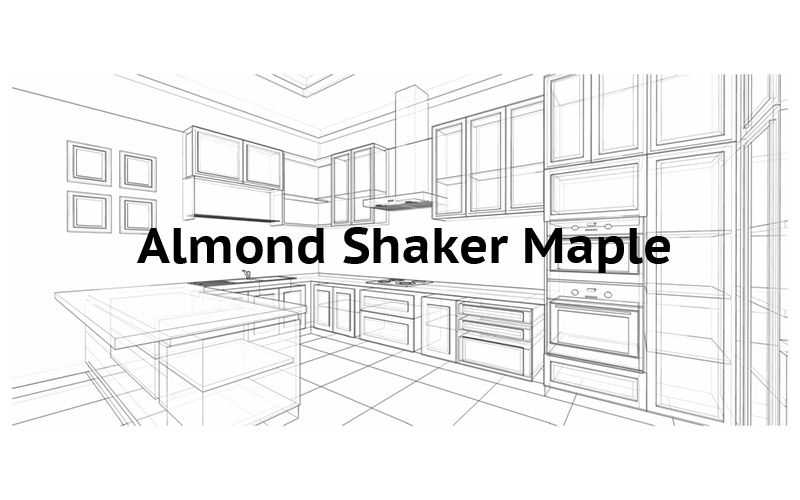 Almond Shaker Maple Cabinets