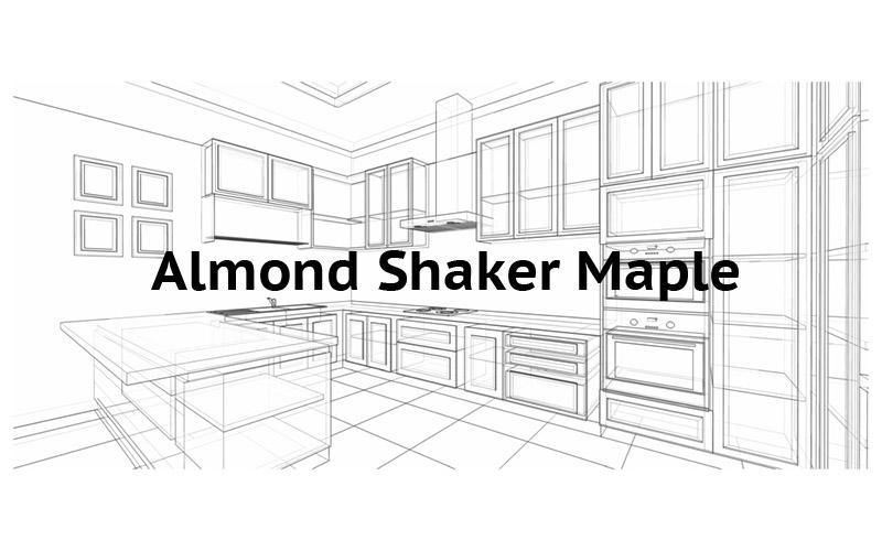 Almond Shaker Maple Cabinets