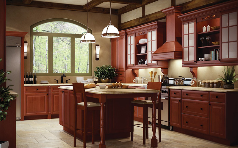 Cinnamon-K rich dark brown kitchen cabinets