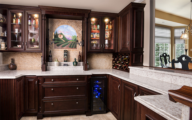 Elite Merlot rich beautiful dark brown kitchen cabinets