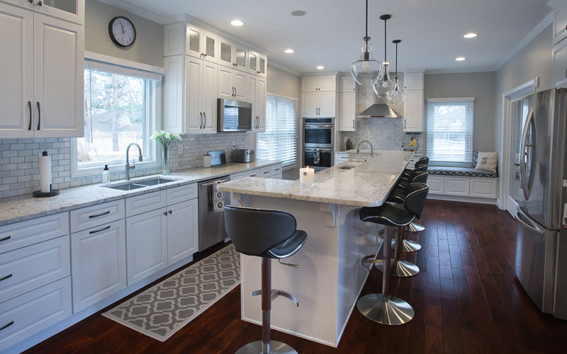 gramercy modern clean white kitchen cabinets