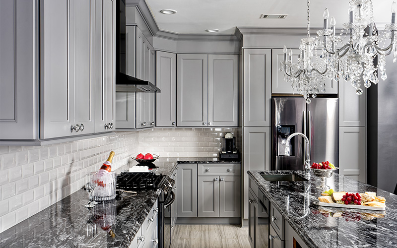 Nexus Slate medium grey cabinets