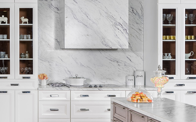 Onyx Frost white modern classy kitchen cabinets