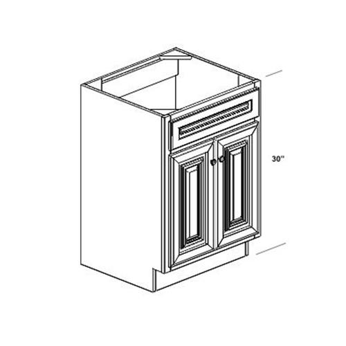 "Cherry-K - 24"" Vanity Sink Base Cabinet - 30"" High - Wood ..."