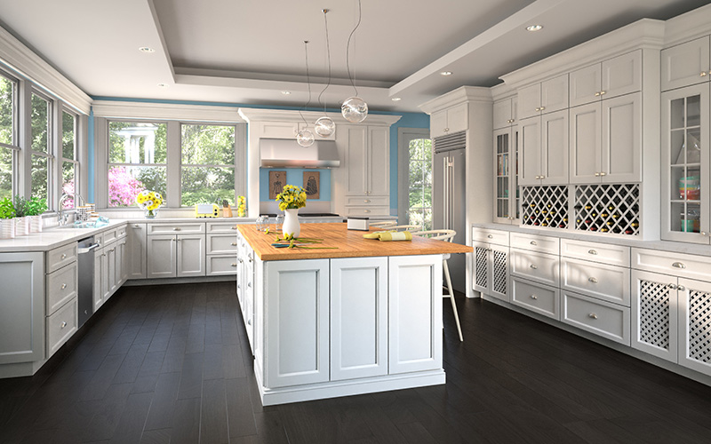 Uptown White Wood Cabinet Factory Uptown White Kitchen Cabinet