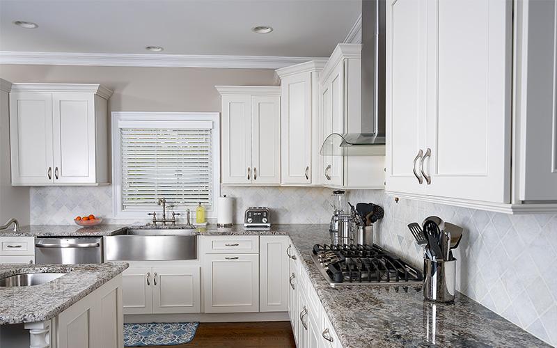 Vista Blanc light off white modern kitchen cabinets