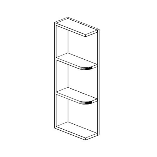 Ice White Shaker 05 Quot X 30 Quot Open Shelf Wall End Cabinet